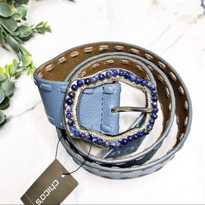 CHICO'S Blue Buckle Belt Size Small